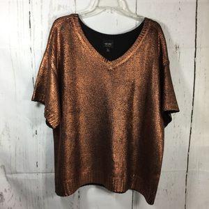Nicole by Nicole Miller copper  sweater